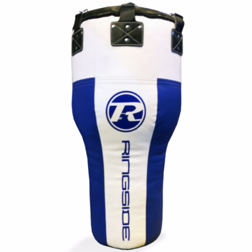 Ringside Synthetic Leather Angle Punchbag - Blue/White